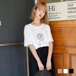2246 스케치 반팔 티셔츠 (3colors)