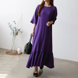 Yolo Frill Long Dress