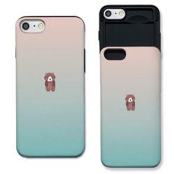 [아이폰7+] 곰돌이 민트로즈 S3114B 슬라이더