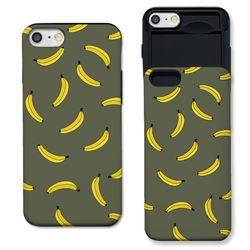 [아이폰7+] 바나나 패턴 카키 S3086I 슬라이더