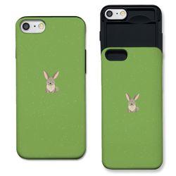 [아이폰7+] 토끼 그리너리 S3089A 슬라이더 케이스
