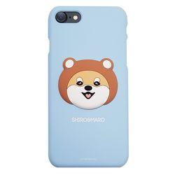 시로앤마로 입체 슬림핏 곰시로블루아이폰5 5S SE