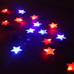 LED 플래시라이트 뱃지 (별) 25개한팩