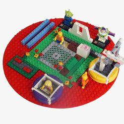 실리콘 레고 블럭매트 레고판 블럭판(소형)