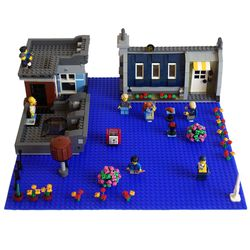 실리콘 레고 블럭매트 레고판 블럭판(대형)