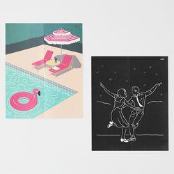 여름 밤 인테리어 포스터.페이퍼 포스터