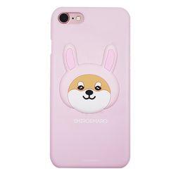 시로앤마로 입체 슬림핏 토끼시로핑크 아이폰7+ 8+