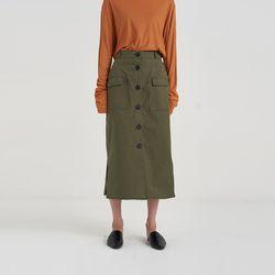 cargo pocket long skirt (3colors)