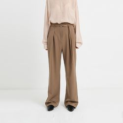 belted high slacks (3colors)