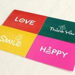 Lovely Keyword 카드세트 (4장+스티커)