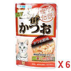 (6개묶음)펫모닝 카네토라 가다랑어맛 파우치 60g(PI-A)