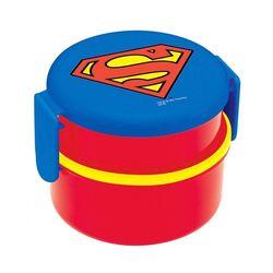 슈퍼맨 원형 2단 도시락