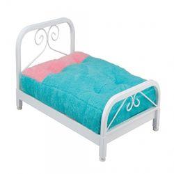 리본 스퀘어 철제 침대