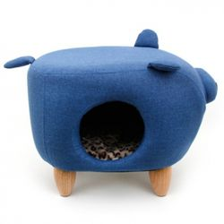 펫모닝 블루 돼지 하우스