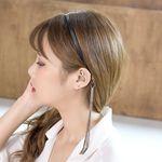 P6925 양가죽 체인 이어링 헤어밴드