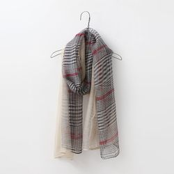 Silk Wool Tartan Scarf