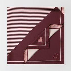 Love Stripe Square Scarf