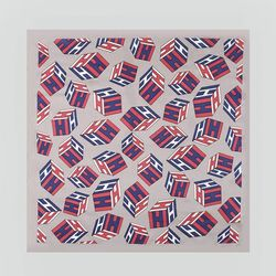 Silk Cube Square Petit Scarf