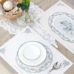 Green PVC 디자인 코팅 테이블매트 식탁매트 프렌치플레이트