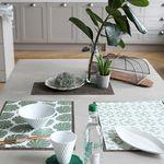 Green PVC 디자인 코팅 테이블매트 식탁매트 리프