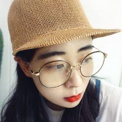 오버렌즈 블랙 골드 안경 n816