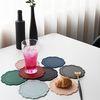 오마주 실리콘 플레이트 티코스터 컵받침 2P