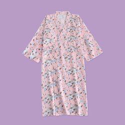 옥상 잔꽃 유카타 원피스 잠옷