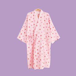 체크딸기 유카타 원피스 잠옷