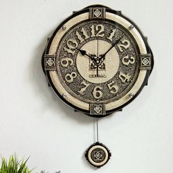 (ksiw032)엠페러 골드벽시계(소)