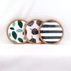스칸디 패턴 코스터 6종 - 아침산책