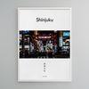 유니크 일본 디자인 포스터 M 신주쿠 가부키쵸 A3(중형)