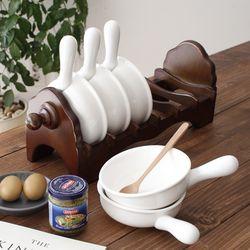 6P 손잡이 그릇 세트 (죽그릇 라면기등) - 2color