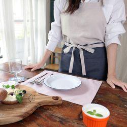 유노야 양면 식탁 테이블 매트 (스트라이프 그레이)