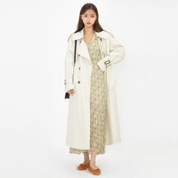 lining check trench coat