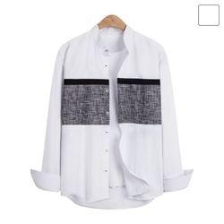 헨리넥 라인 스크래치 셔츠 SHT235