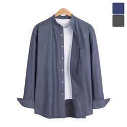 헨리넥 클래식 무지 셔츠 SHT229