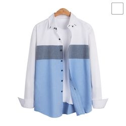 쓰리 배색 셔츠 SHT228