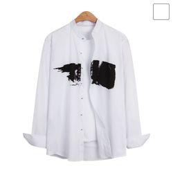 브러쉬 포인트 헨리넥 셔츠 SHT221