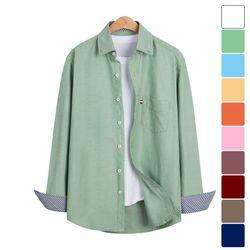 베이직 소매 패턴 옥스포드 셔츠 SHT215