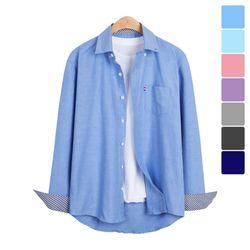 소매 패턴 옥스포드 셔츠 SHT214