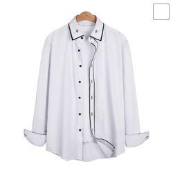 포인트 라인 목단추 셔츠 SHT213