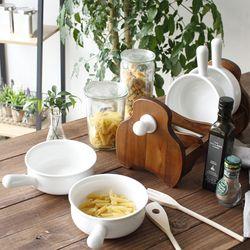 4P 손잡이 그릇 세트 (죽그릇,라면기등)