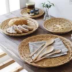 싸리 왕골 채반 전 접시 바구니 빵 접시