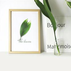 Leaf 인테리어 식물 액자 포스터 우드 프레임