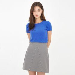short sleeve half knit
