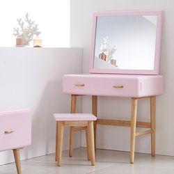 NEW레이스토리지 화장대+거울 (핑크)