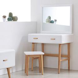 NEW레이스토리지 화장대+거울 (화이트)