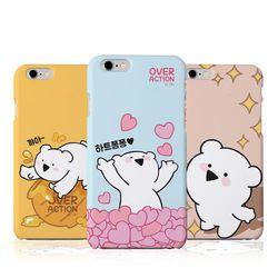 오버액션 곰 하드 케이스(B).아이폰5S(SE)