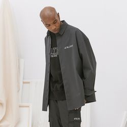 오버핏 로고 셔츠 (gray)