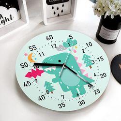 [퍼니즈] 공룡 교육용 벽시계 (무소음) 어린이집 생일 선물